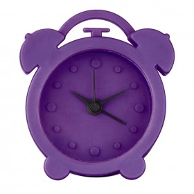 Hama 00123142 Mini Silicone Alarm Clock, Purple