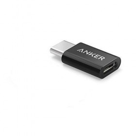 Anker B8174011 USB-C (male) to Micro USB Adapter (female), Converts USB Type-C input to Micro USB, Uses 56K Resistor, Black