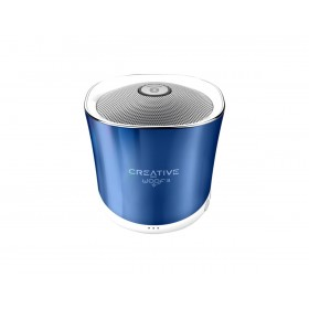 Creative Woof 3 Full-featured Personal Micro-sized Bluetooth® MP3/FLAC Speaker with Built-In Microphone, (Spring Crystallite) Blue, 51MF8230AA002