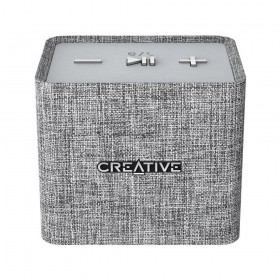 Creative NUNO micro Cube-sized Portable Bluetooth® Speaker, Grey, 51MF8265AA001
