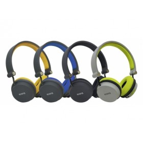 Iconz IMN-BH03EG Bluetooth OnEar Headset, Foldable design, Dual mode: wireless and wired connectivity, Grey/Green