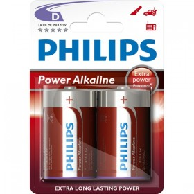 Philips LR20P2B/10 D Alkaline Battery