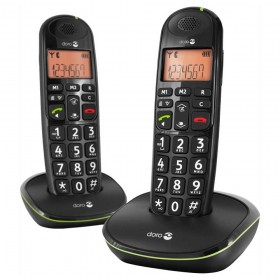 Doro PE100WDUOBLK amplified Cordless telephones duo, black