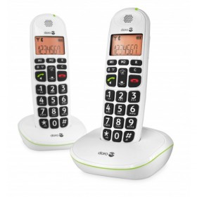 Doro PE100WDUOWHT amplified Cordless telephones duo white