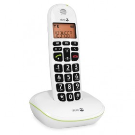 Doro PE100WWHT amplified Cordless telephones, white