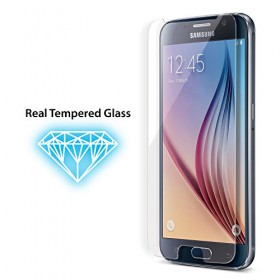 iLuv SS6TEMF Tempered Glass Screen Protector features real tempered glass and will not scratch shatter or smudge for Galaxy S6