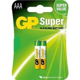 GP 24A  Super AlKaline Batteries (AAA) - 2 Pack