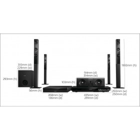 Philips HTB5580/40  5.1 3D Blu-ray Home theater, Crystal Clear Sound Wireless rear speakers Built-in WiFi, Bluetooth & NFC 1000W