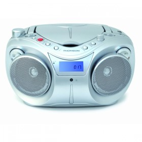 Thomson RCD205U BOOMBOX CD/MP3 PLAYER, 2 BANDS RADIO, BLUE BACKLIGHT LCD DISPLAY AND USB JACK