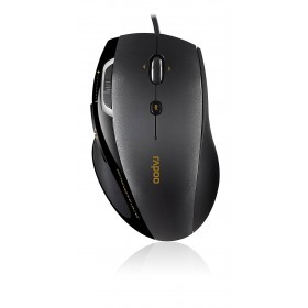 RAPOO N6200 Wired Optical Mouse Black, 5 Buttons, Zoom button, Forward/back buttons