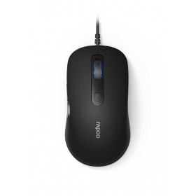Rapoo N3610 Wired Optical Mouse Black, 5 Buttons