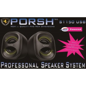Porsh S 1150 USB USB POWERD, Work with Laptop and PC, Elegant design, RMS 6W