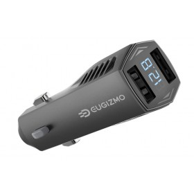 EUGIZMO Duo+ 4.8A Dual USB Car Charger with Smart IC (Integrated Circuit) with LED to display the outpot power