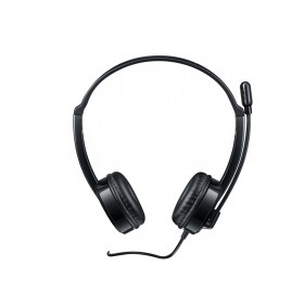Rapoo H100 Wired Stereo Headset with 3.5mm Audio Jack, Black