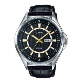 CASIO MTP-E108L-1A+K QUALITY ANALOG &BESIDE WATCH