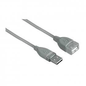 Hama 00045027 USB 2.0 Extension Cable, shielded, grey, 1.80 m