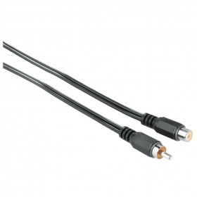 Hama 00043223 Audio Cable, 1 RCA plug - 1 RCA socket, 2.5 m