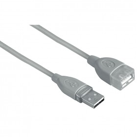 Hama 00039723 USB 2.0 EXTENSION CABLE,SHIELDED,GREY, 0.5 M