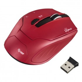 HAMA 00053943 MILANO COMPACT WIRELESS MOUSE, RED
