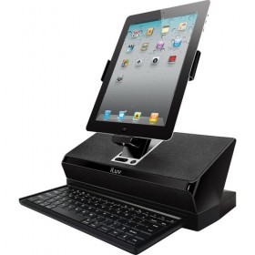 iLuv IMM737BLK WorkStation Mobile Computing Station with Dock, Keyboard and Audio for Apple iPad, iPhone and iPod Touch