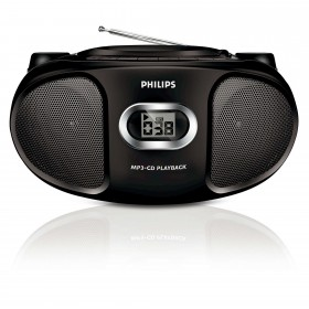 Philips AZ302 CD,MP3-CD Soundmachine with Compact design , Black