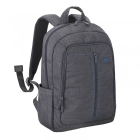 Riva 7560 Laptop Canvas Backpack 15.6 inch, Grey, Series Aspen, 6901820075602