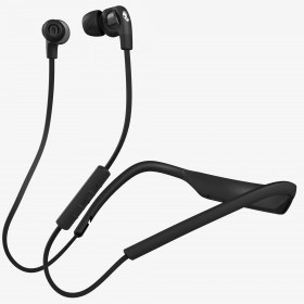 Skullcandy S2PGHW-174 Smokin Buds 2 In-Ear Bluetooth Wireless Earbuds, Black/Chrome