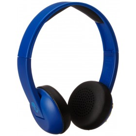 Skullcandy S5URJW-546 Uproar Wireless On-Ear Bluetooth Headphones with Built-In Mic and Remote, Royal/Cream/Blue