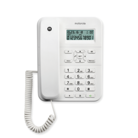 Motorola CT202 Corded Landline Phone (White)