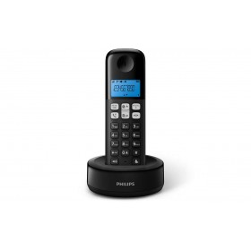 Philips D1311B/90 CORDLESS HANDSET SPEAKERPHONE, 1.6 inch DISPLAY/ BLUE BACKLIGHTS, BLACK