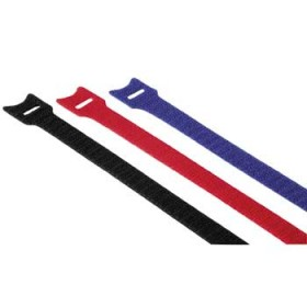 Hama 00020537 Hook and Loop Cable Ties, 200 mm, coloured