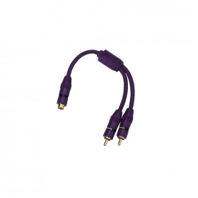 Hama 00045692 RCA Y Adapter, socket - 2 plugs, violet
