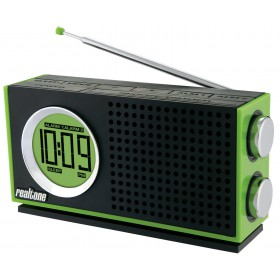 iHome RT212Q Realtone Retro AM/FM Portable Dual Alarm Clock Radio (Green)