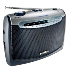 Philips Portable Radio AE2160 FM/MW, Analogue tuning Headphone jack Battery or AC operated