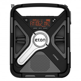 Eton FRX5S Emergency Radio The Rugged, All-Purpose, Quad-Power, Smartphone & Tablet Charging Radio With Customizable Weather and S.A.M.E. Alerts