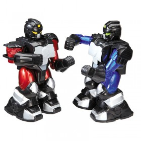 Radioshack 6000987 The Black Series RC Cyber Boxing Robots Remote Control Cordless Head 2 Head
