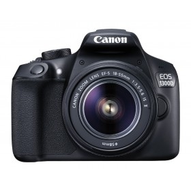Canon EOS 1300D 18MP Digital SLR Camera (Black) with 18-55mm Lens With NFC, Wi-Fi + CASE +SD 8GB