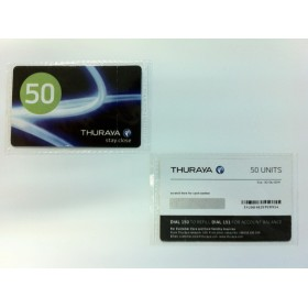 كارت ثريا ( Thuraya Scratch Card 50 Unit )