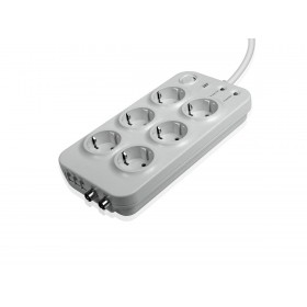 "SBS Surge Protector ""PREMIUM"" 6 outlet,TV protection 15A White SP3372S"