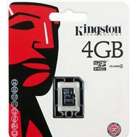 كارت ميمورى كينجستون (Kingston MICRO SD4GB (SDHC) CLASS 4 CARD+ADAPTER SDC4/4GB)
