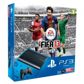 بلاى ستيشن 3  سونى ( SONY PS3500GB CONSOLE+FIFA13+DS3 CECH-4004C/B-500GB )