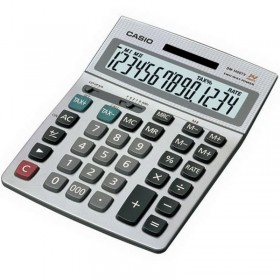 آله حاسبه عمليه (CASIO DM-1400-S  PRACTICAL CALCULATOR)