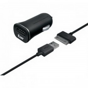 جوين كابل يو اس بي + شاحن سيارة (JWIN IAD565BLK USB CAR CHARGER+CHARGE/SYNC CABLE FOR IPAD/IPHONE)