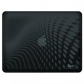 iLuv iCC802BLK Flexi-Clear(TPU) Dot Wave Pattern Case with Folding Plastic Stand for Apple iPad 1st Gen- Black