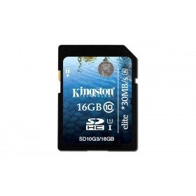 Kingston 16GB SDHC CLASS 10 FLASH CARD SD10G3/16GB