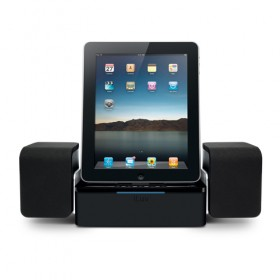 iLuv IMM747BLK Audio Cube Hi-Fidelity Speaker Dock for iPad, iPhone and iPod (Black)