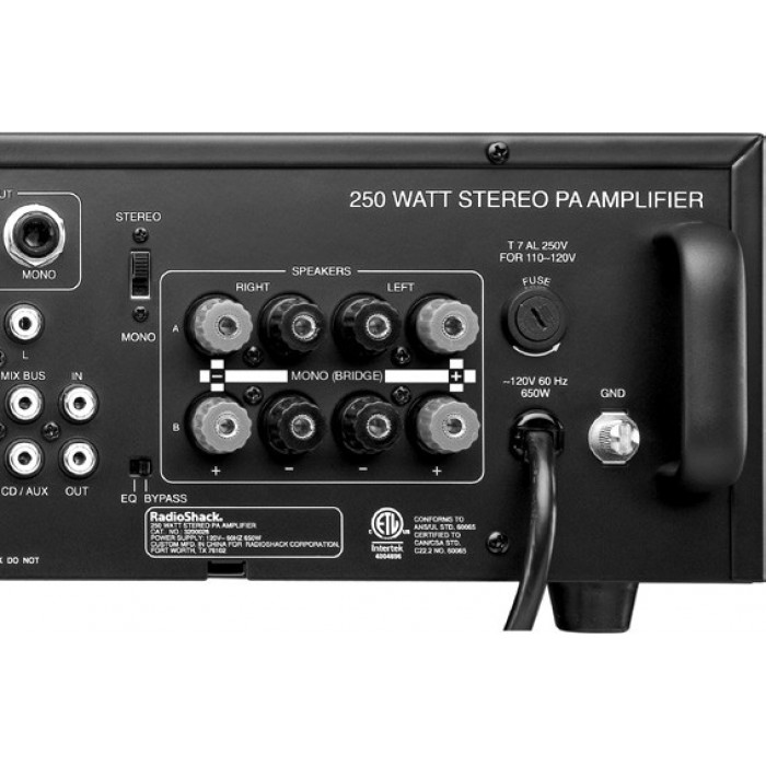 buy from radioshack in radioshack 174 250w stereo pa amplifier for only 1 946 egp the