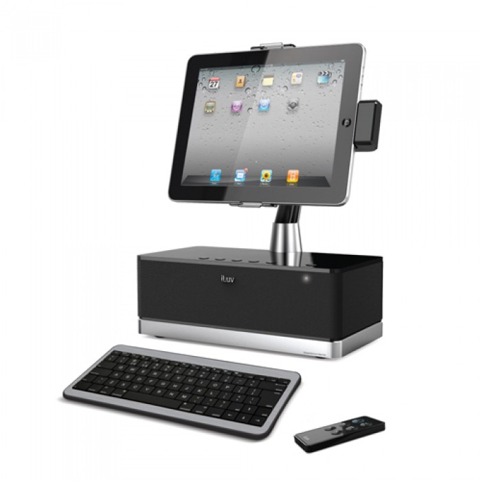 buy from radioshack online in egypt iluv speaker dock with bluetooth keyboard for apple ipad. Black Bedroom Furniture Sets. Home Design Ideas