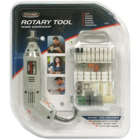 Chicago Power™ 39701 Tools Rotary Tool Set