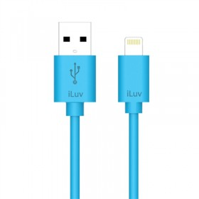 iLuv ICB263BLU Charge/Sync Apple Lightning Connector Cable